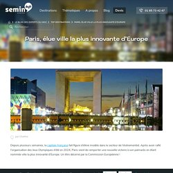 Paris : destination MICE la plus innovante d'Europe