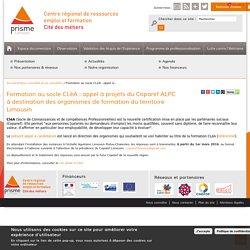 Formation au socle CLéA : appel à projets du Coparef ALPC à destination des organismes de formation du territoire Limousin