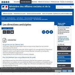 Les directives anticipées - Fiches pratiques à destination des professionnels de la santé - Ministère des Affaires sociales et de la Santé