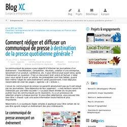 Comment rédiger et diffuser un communiqué de presse à destination de la presse quotidienne générale ? ← Blog XC
