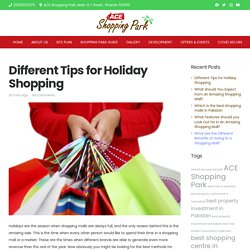 Different Tips for Holiday Shopping - ACE Shopping Park – Dream Destination for your Shopaholics