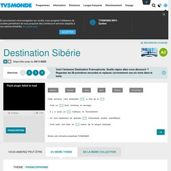 Destination Sibérie