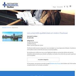 les universités du Québec à Toulouse le 17 oct