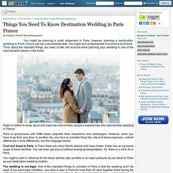 Things You Need To Know Destination Wedding in Paris France