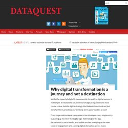 Why digital transformation is a journey and not a destinationDATAQUEST
