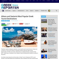 Athens and Santorini Most Popular Greek Tourist Destinations