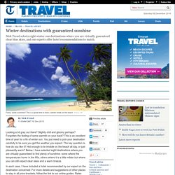 Winter destinations with guaranteed sunshine