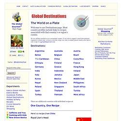 Global Destinations & International Recipes
