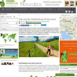 """Le top 100 des destinations vertes fut dévoilé à Ljubljana en Slovénie lors du """"Green Destinations Day"""""""