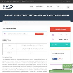 Leading Tourist Destinations Management Assignment – HND Help