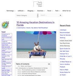 10 Amazing Vacation Destinations In Florida - TechTravelHub