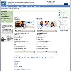 Destinations - Travelers' Health - CDC