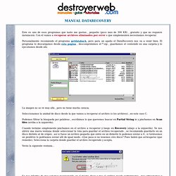 Manual DataRecovery