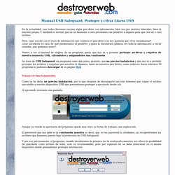 destroyerweb- manual-usb-safeguard-proteger-y-cifrar-pendrives