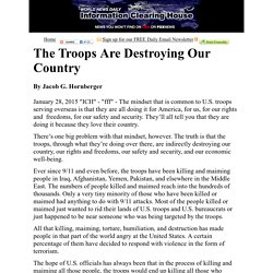 The Troops Are Destroying Our Country   :  Information Clearing House