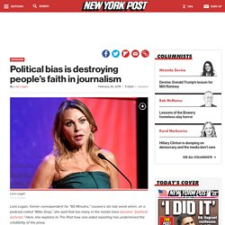 Political bias is destroying people's faith in journalism