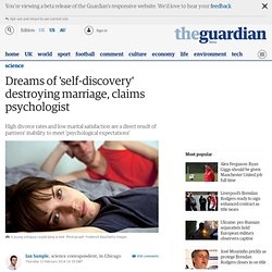 Dreams of 'self-discovery' destroying marriage, claims psychologist