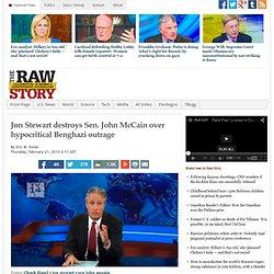 Jon Stewart destroys Sen. John McCain over hypocritical Benghazi outrage