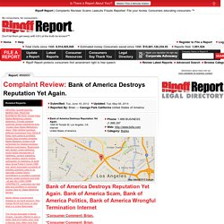 Bank of America Destroys Reputation Yet Again. Complaint Review Internet: 899953