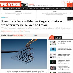 Born to die: how self-destructing electronics will transform medicine, war, and more