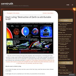 Court ruling: 'Destruction of Earth is in no way attributable to US government'