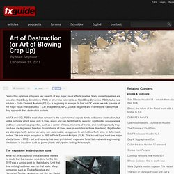 Art of Destruction (or Art of Blowing Crap Up)