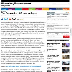 The Destruction of Economic Facts