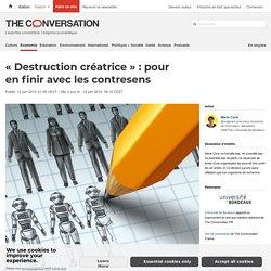 «Destruction créatrice»: pour enfinir avec lescontresens