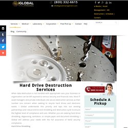 Hard Drive Destruction Services Los Angeles, Data Destructions Services San Diego