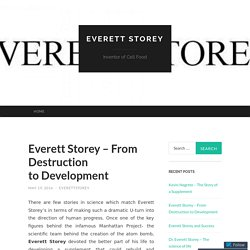 Everett Storey – From Destruction to Development