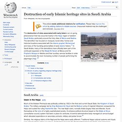 Destruction of early Islamic heritage sites