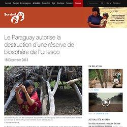 Le Paraguay autorise la destruction d'une réserve de biosphère de l'Unesco