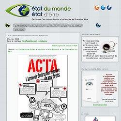 L'ACTA : l'arme de destruction massive de vos droits – Arrêtons ACTA!