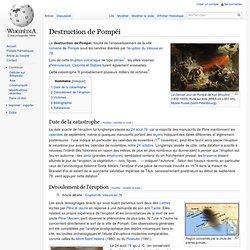 Eruption célèbre: Pompéi