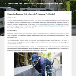 Preventing Structural Destruction with Pest Control Professionals