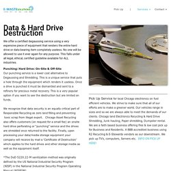 on site hard drive destruction