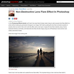 Non-Destructive Lens Flare Effect In Photoshop