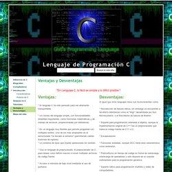Ventajas y Desventajas - Lenguaje de Programación C
