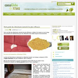 Petit guide des détachants naturels les plus efficaces Consommer Durable