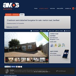 2 bedroom Semi-Detached Bungalow for sale in MertonRoad,Benfleet - Amos Estate Agents