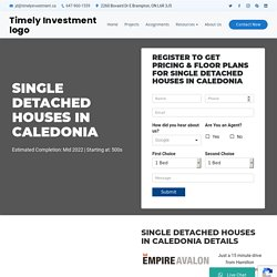 Single Detached Houses in Caledonia