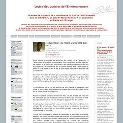 JURISTE ENVIRONNEMENT 14/04/14 CHLORDECONE : du profit à n'importe quel prix ?.