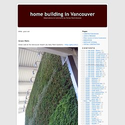 DETAIL – green wall « home building in Vancouver