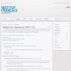 Détail de l'épreuve DALF C2