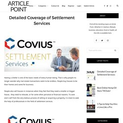Detailed Coverage of Settlement Services