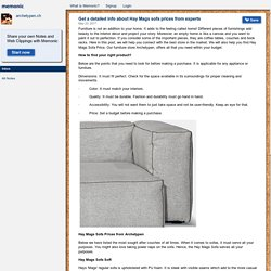 Get a detailed info about Hay Mags sofa prices from experts by archetypen.ch