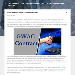 Get a Detailed Federal Support with GWAC