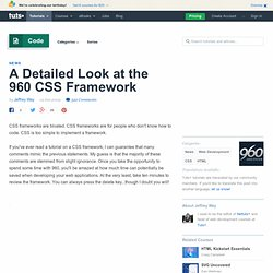 A Detailed Look at the 960 CSS Framework