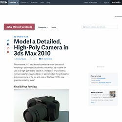 Model a Detailed, High-Poly Camera in 3ds Max 2010