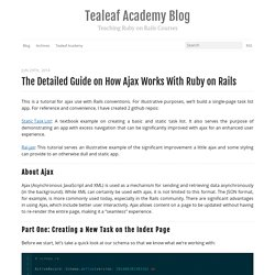 The Detailed Guide on How Ajax Works with Ruby on Rails
